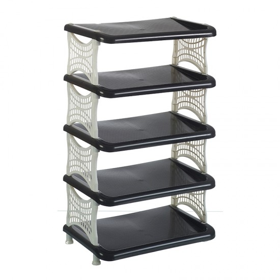 White and Black Shoe Rack (With Gelatin Packet)