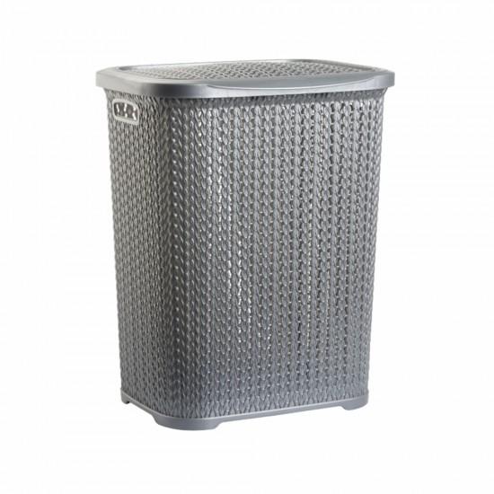 Örgü Desenli Kirli Çamaşır Sepeti (55lt)