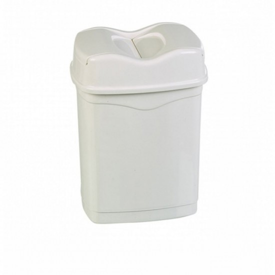 Plastik çift kapaklı çöp kovası