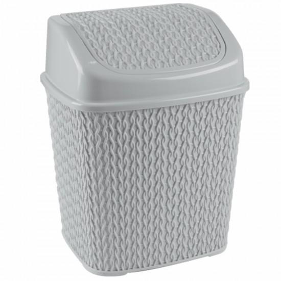 Örgü Desenli Çöp Kovası (6,5 Lt)