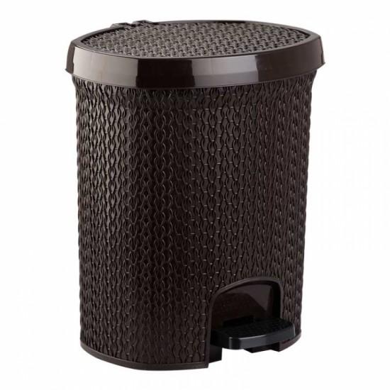 Örgü Desenli Pedallı Çöp Kovası(10 Lt)